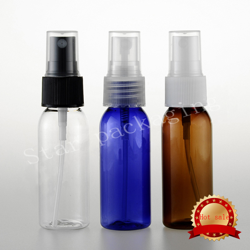 Free shipping 30ml spray pump travel PET bottle for cosmetic packaging 1 oz plastic empty bottles