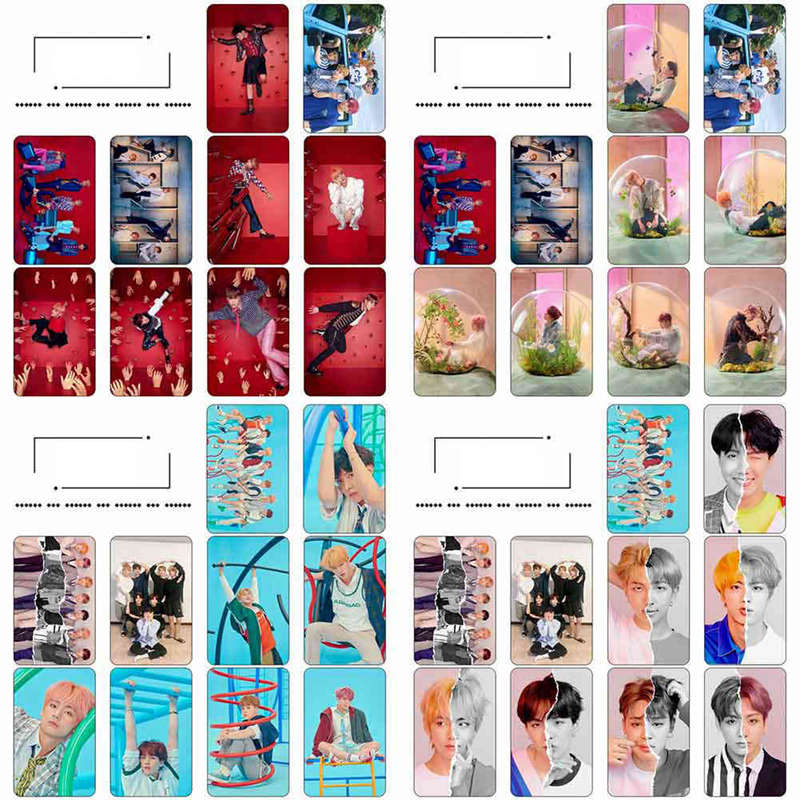 Calendars, Planners & Cards 10pcs/set Kpop Bts Love Yourself Tear Hd Crystal Photo Cards Sticker Jung Kook Suga V Sticky Photocard Poster Exquisite Traditional Embroidery Art Office & School Supplies
