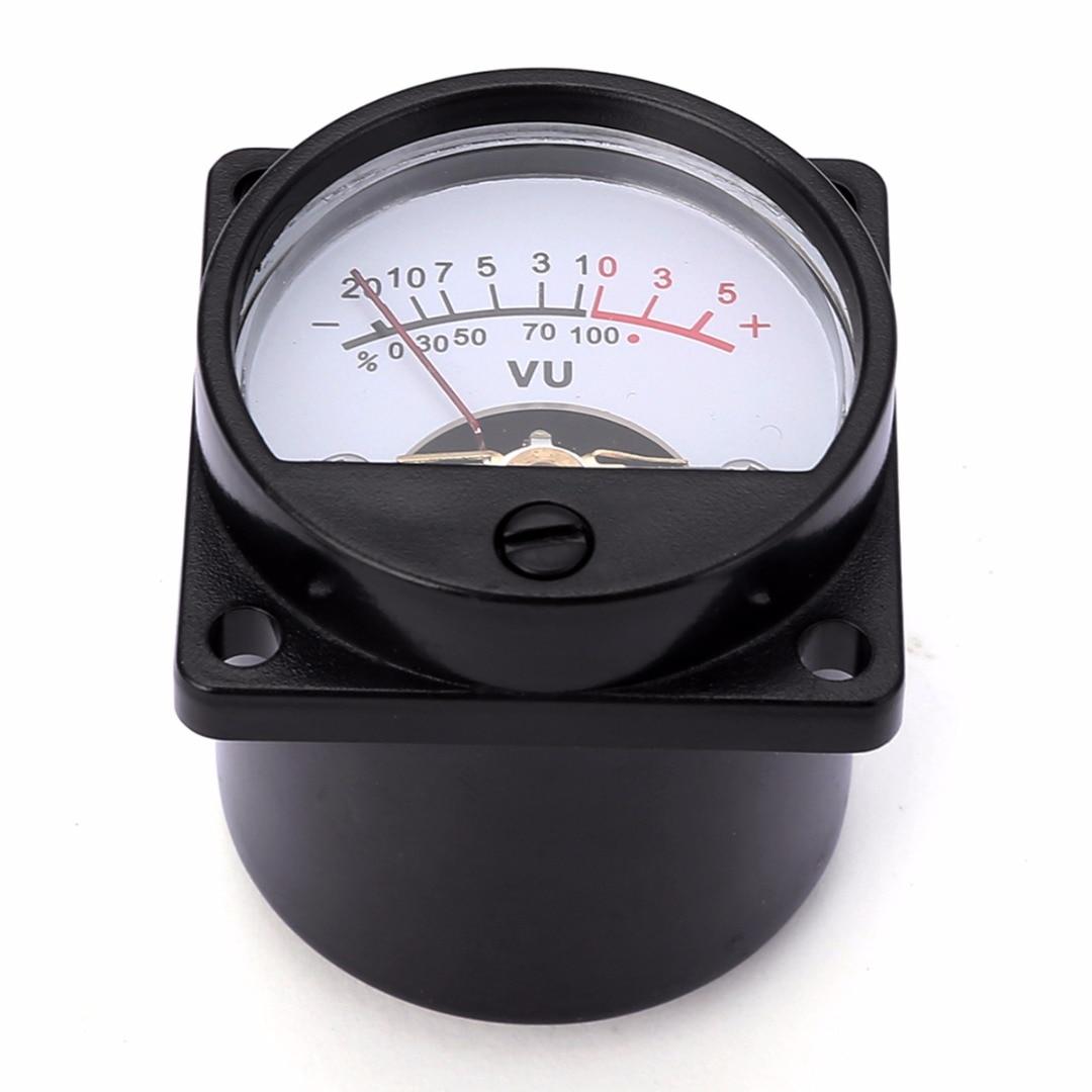 Durable 500UA Panel VU Meter 6-12V Bulb Warm Back Light Recording Audio Level Amp Meter For Audio equipment