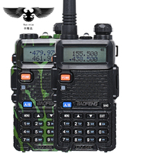 BAOFENG BF-UV 5R Walkie Talkie UHF VHF Dual Band CB-radio 128CH VOX Zaklamp Dual Display FM Transceiver voor Hunting Radio