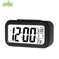 LEDGLE Digital Alarm Clock Student Clock Large LED Display Snooze Electronic Kids Clock Light Sensor Nightlight
