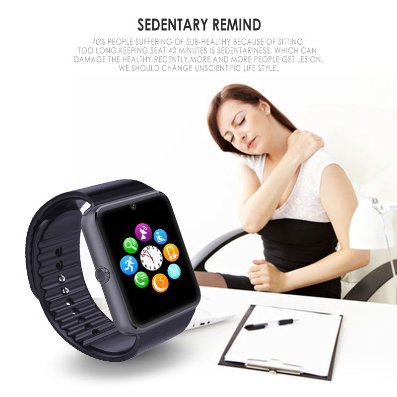 Smart Watch GT08 For Apple Watch Men Women Wristwatch Smart Electronics Smartwatch With Camera SIM TF Card For IOS Android Phone in Smart Watches from Consumer Electronics