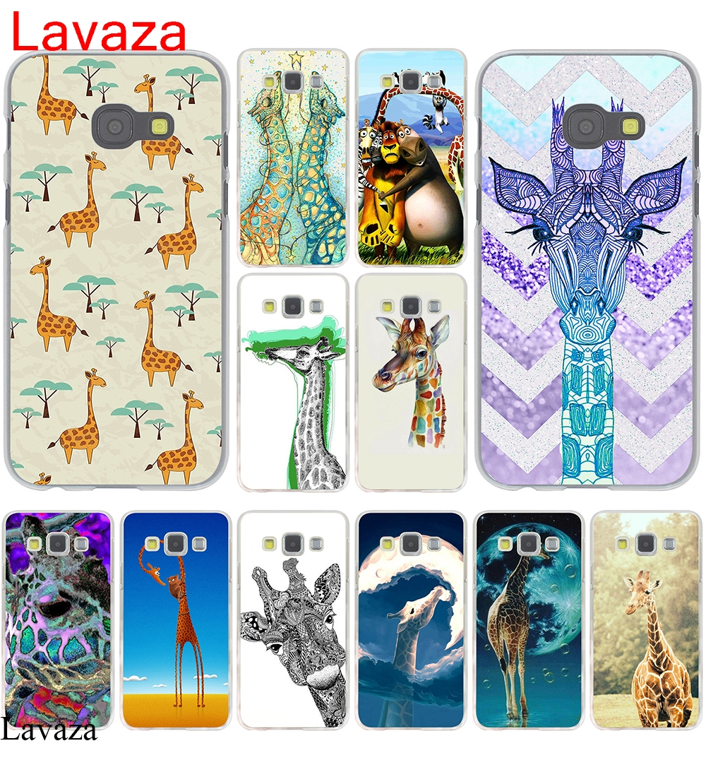 Lavaza giraffes days lets tandem Hard Case Cover for Galaxy A3 A5 J5 (2015/2016/2017) & J3 J5 Prime A7 J7