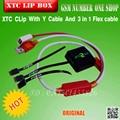2 xtc clipe xtc clipe Caixa e cabo Y e 3 em 1 cabo Flex para HTC