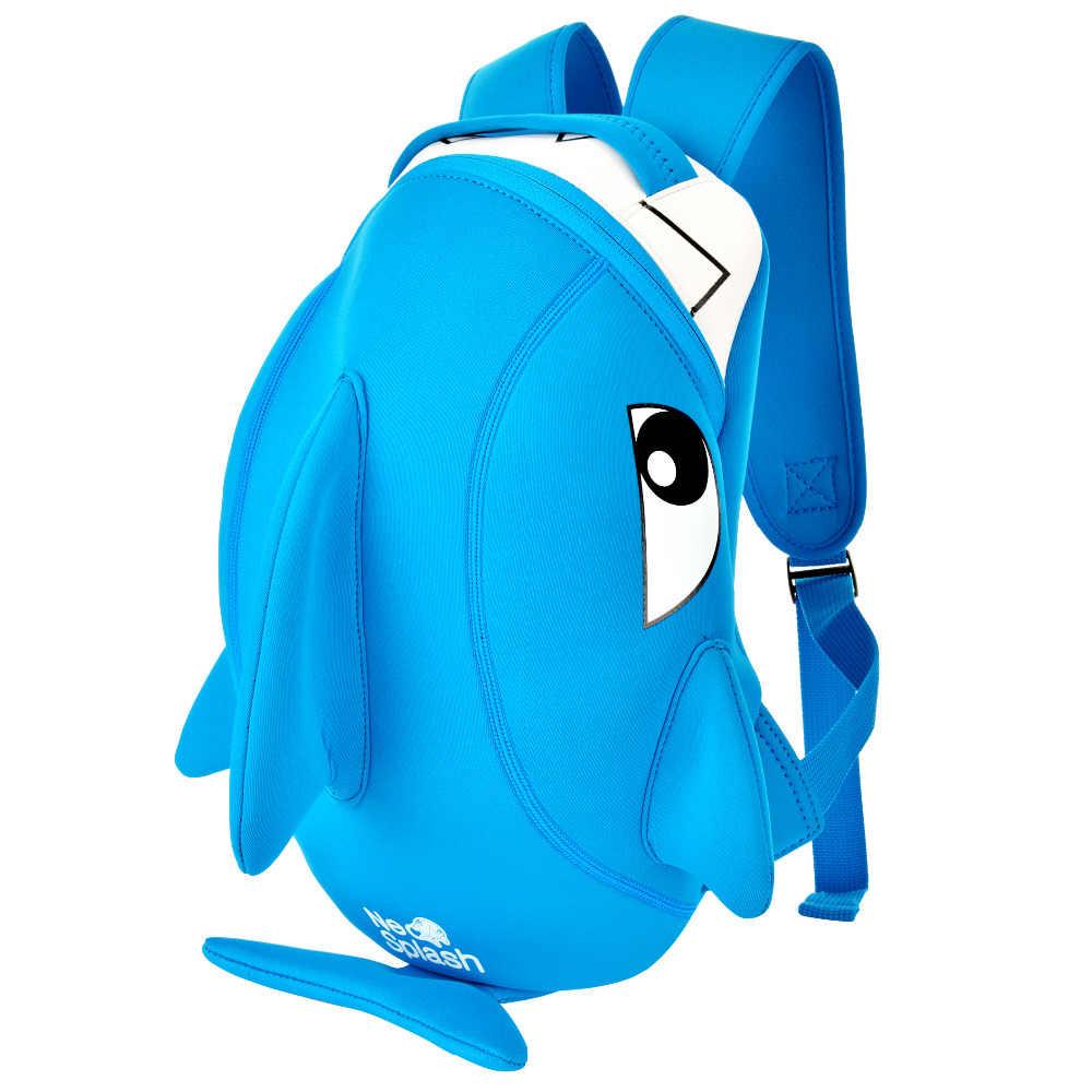 WIN. MAX/непромокаемая мягкая легкая объемная Детская сумка для бега с изображением акулы и динозавра, Детский рюкзак, школьная сумка для мальчиков и девочек