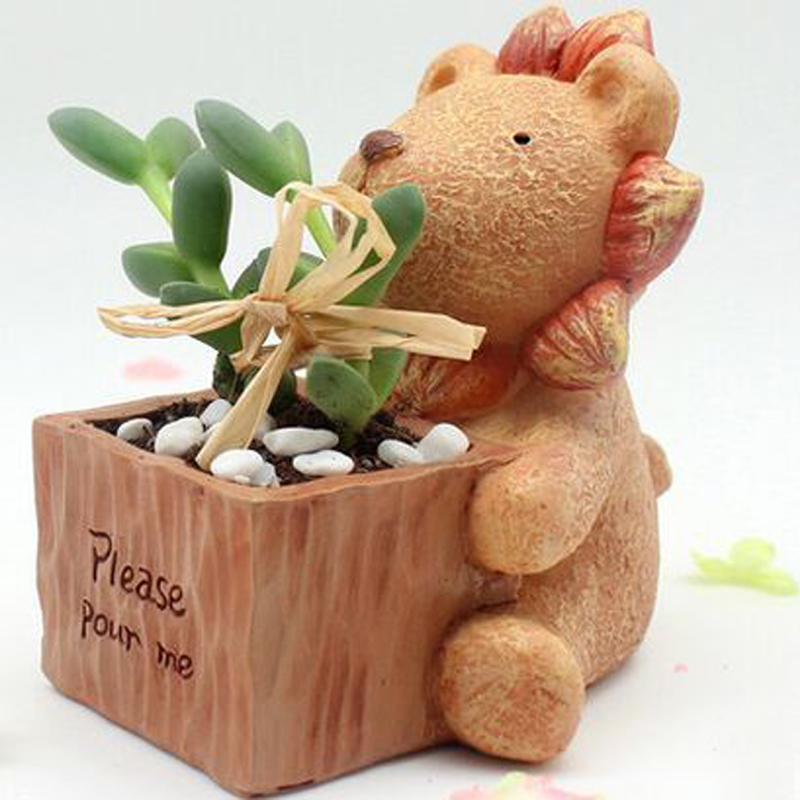 Creative Animal Resin Garden Pots Planters Succulents Flower Green Plant Miniature Decoration