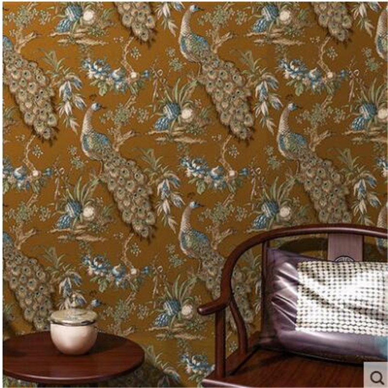 beibehang American country to do the old wood wallpaper retro bars blue Mediterranean wallpaper Chinese emulation board zakka do the old vintage american country three blackboard bar display clothing racks cafe wood craft