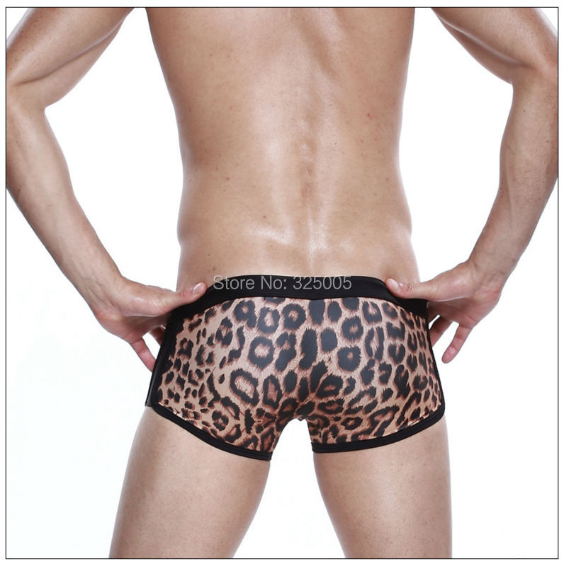 1fabb435c7 2014 Newest sexy men's leopard swim trunks mens leopard print bikini  swimwear male low rise swimsuit sexy men swimming boxers-in Men's Trunks  from Sports ...