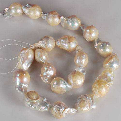 15inches diy 11x15mm Natural white color Sea South Irregular Pearl Baroque Beads
