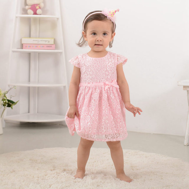 0cdfc96d93d5a Newborn Lovely Infant Baby Dress 100% Cotton Pink Fashion Baby Girl Vestido  2017 Daily Toddler Baby Clothes ABD164005-in Dresses from Mother & Kids