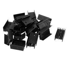 20x Черный Алюминиевый Радиатор Радиатор Радиатор 25x15x10 мм для К-220 IC