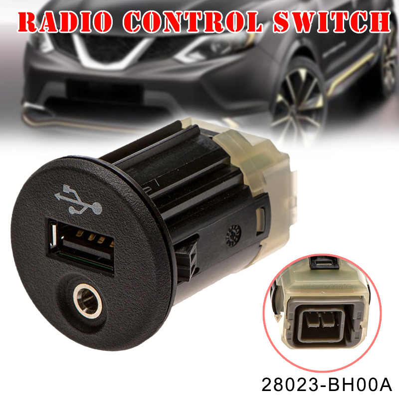 New 1 Pcs Car USB AUX Port Adapter Jack Plug 28023-BH00A Accessory Durable for Nissan