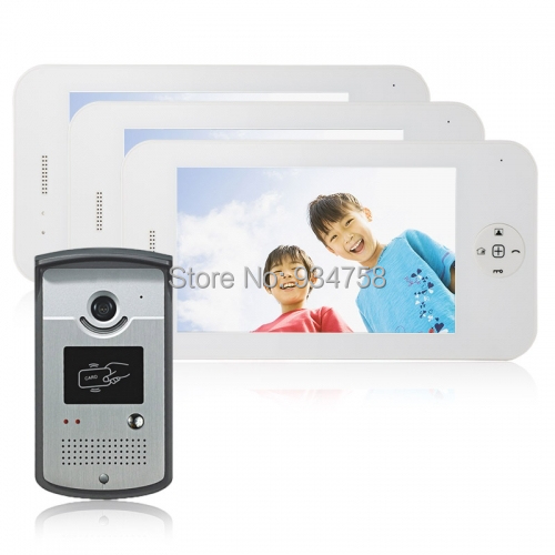 1V3 7 Inch TFT Digital Color LCD Monitor 1/3 CMOS Night Vision Camera Door Phone System