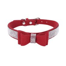 2018 Pet Rhinestones Bow Knot Collar Dog Cat Bling Soft Cute Tie Collar Hot Sales Pet Dog Supplies