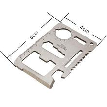 Tool Card Multi-Purpose 11-in-1 Stainless Steel Outdoor Hunting Survival Camping Tool Emergency Card