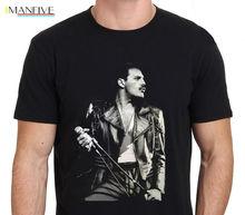 Online T Shirts Design Crew Neck Short Sleeve Zomer Freddie Mercury Queen British Rock Legend For Men