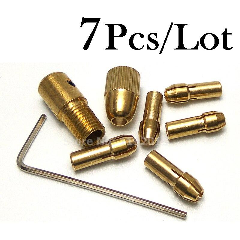 Mini Drill Chucks Adapter Keyless Socket Dremel Small Electric Drill Bits Set Power Tools Accessorie