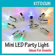 100pcs Birthday Cake Light Up Blinking Mini LED Light 11 Colors Availbale RGB Color Changing Decorative Lamp wedding party decor(China)