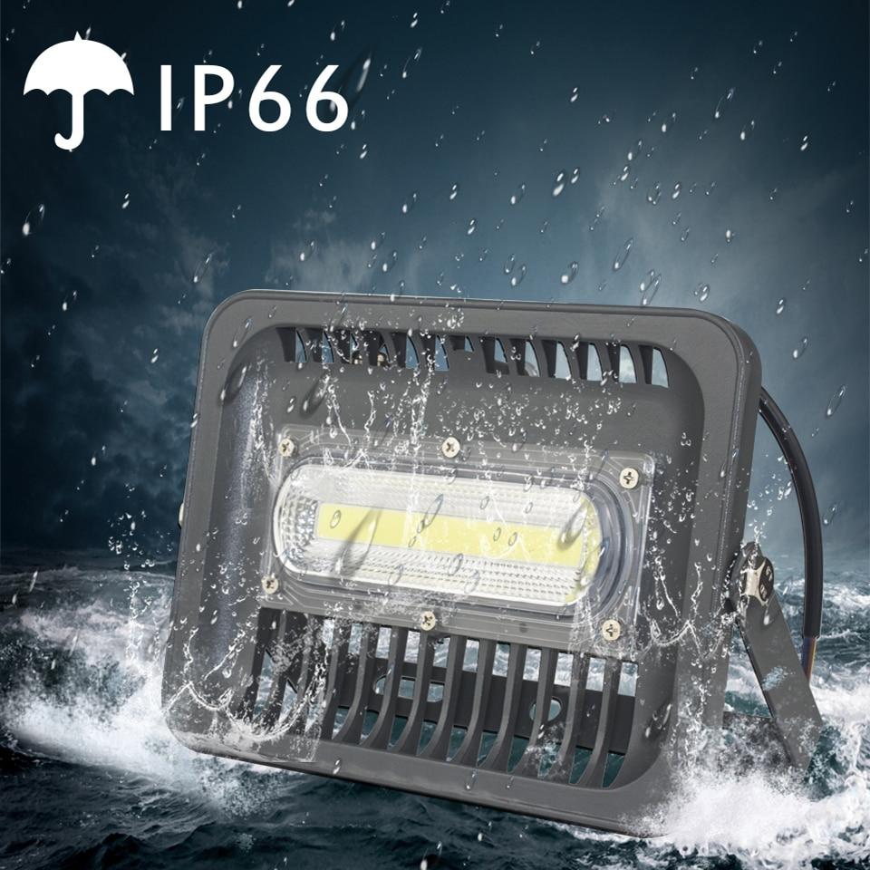 LED Flood Light Reflektor 150 W 100W 50W 30W LED Floodlight IP66 Vattentät 220V 110V Spotlight LED Utomhusbelysning Gargen Lampa