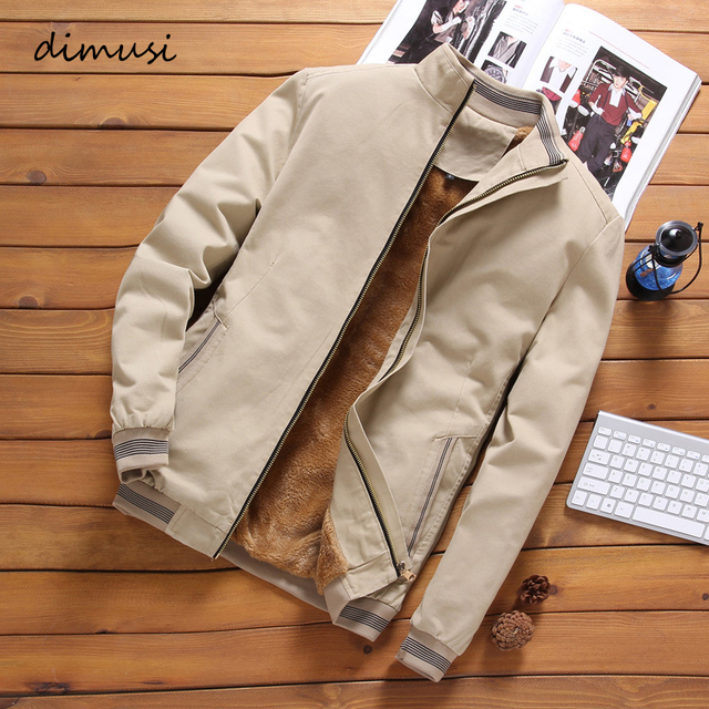 DIMUSI Autumn Mens Bomber Jackets Casual Male Outwear Fleece Thick Warm Windbreaker Jacket Mens Military Baseball Coats Clothing 2