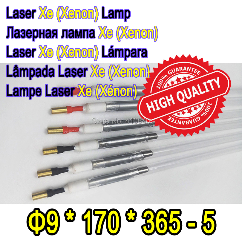 Factory Supply 1 Pair YAG Fiber Laser Xe Lamp Size 9*170*365-5 Diameter 9 mm Length 365 mm Suit for Most Laser Cutting Machine best quality yag laser cutting welding machine 9 170 310 ipl xe lamp pulsed xenon lamp laser xenon lamp