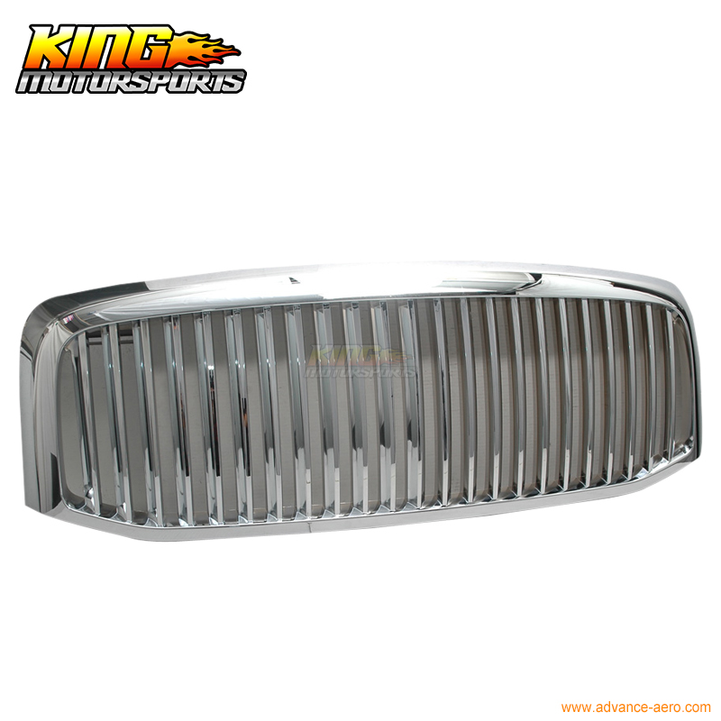 For 06 07 08 Dodge Ram 1500 2500 Ram 3500 Front Vertical Chrome Grill Hood Grille New USA Domestic Free Shipping Hot Selling ins spring kids jacket pu leather girls jackets clothes children outwear for baby girls boys clothing coats costume winter 1 7y