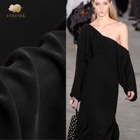 Sand wash 40mm heavy crepe silk fabric 138cm luxury treasure pendant cheongsam dress black silk fabric wholesale silk cloth