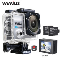 WiMiUS 4K Action Camera Full HD 1080P Sport Mini Video Helmet Cam 170 Degree Wide Angle