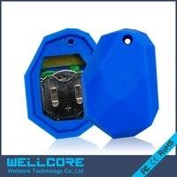 2pcs Lot NRF51822 Ibeacon Module BLE 4 0 Bluetooth Beacon Eddystone Blue Silicone Waterproof