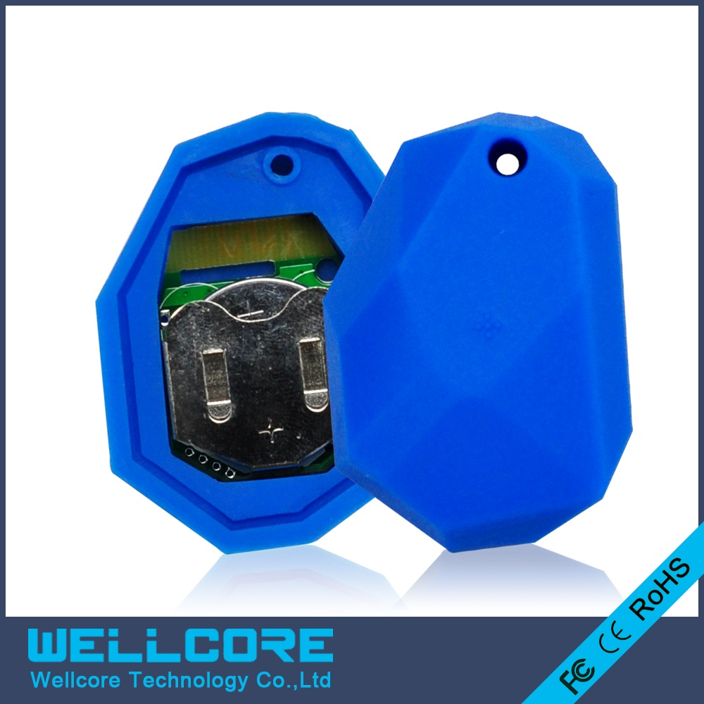 цена 4pcs/lot NRF51822 ibeacon Module BLE 4.0 bluetooth beacon eddystone Blue silicone Waterproof