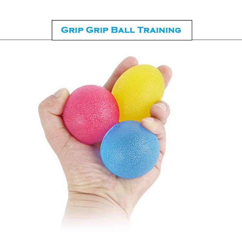 3pcs Oval Shape Balls Children Adult Stress Relief Toy Hand Grip Balls Training Muscle Power Practice Squeeze Toys