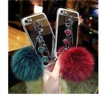 Luxury Brand Bling Diamond Fashion Phone Case For iPhone X XR XS Max 6 6S 7 8Plus TPU Bracelet Hair Ball Soft Cover