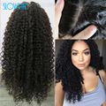 Top Glueless Virgin Brazilian Silk Top Full Lace Human Hair Wigs Kinky Curly Silk Top Lace Front Wig Baby Hair For Black Women
