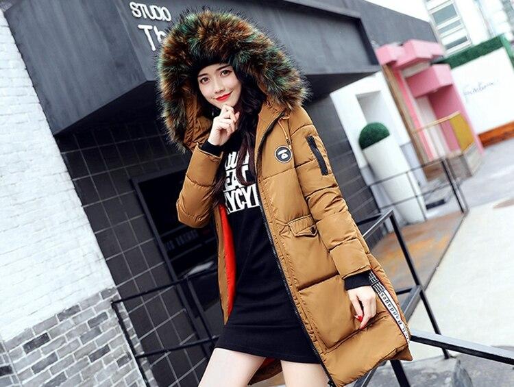 新冬ジャケット女性コート暖かいスリム太いロングパーカー良質カラーの毛皮の襟フード女性コート女性ジャケット United  人気 3