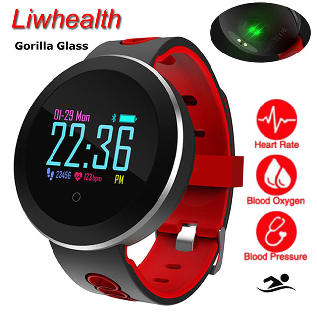 US $53 99  360 Gorilla Color Smart Watch Swim/Music Sportwatch APP GPS  Smartwatch HR/BP Cardiaco Monitor For Apple/Huawei/Moto/Lenovo PK V8-in  Smart
