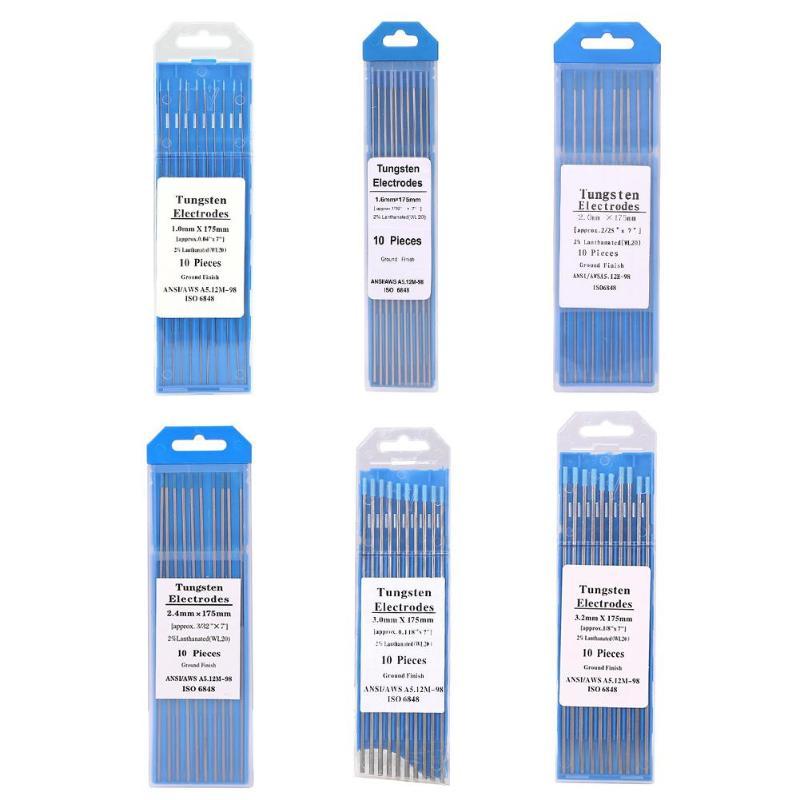 10 шт./компл. 175 мм WL20 Lanthanum вольфрамовый электрод сварные стержни для сварочного аппарата 1,0/1,6/2,0/2,4/3,0/3,2 мм диаметр