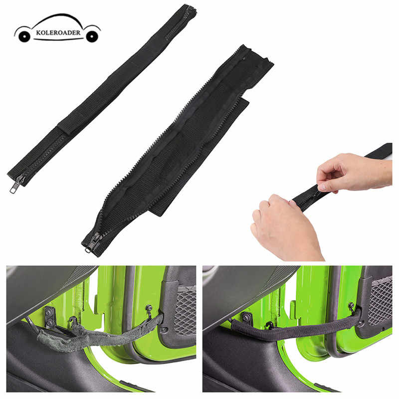 Sukemichi Jeep JK Door Limiting Check Straps Wire Protecting Harness for Wrangler JK 2007-2017 2 Pack