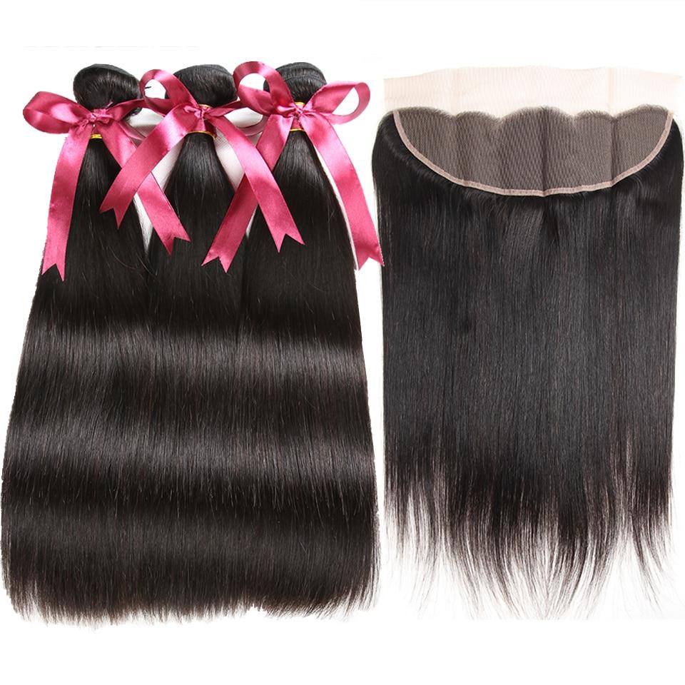 Karizma Peruvian Straight Hair Bundles With Frontal 13x4 Closure 100 Human Hair Bundles With Frontal Non