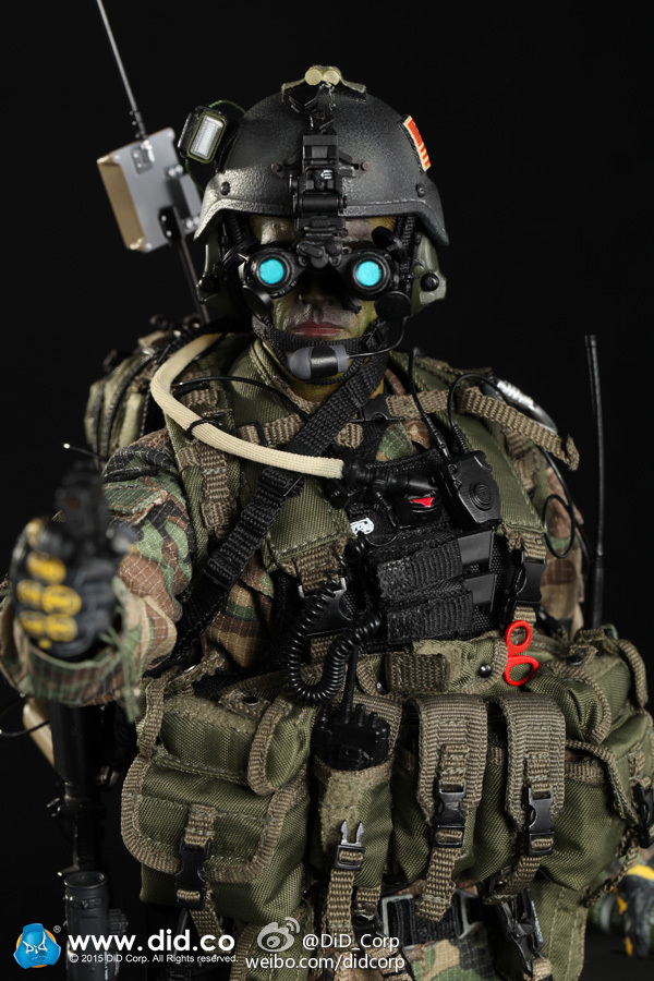"""DID 1//6 MA1002 US Army SBT-22 Special Boat Force Head Sculpt  For 12/"""" Action"""