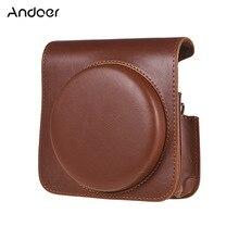 Andoer PU Leder Schutz Kamera Tasche für Fujifilm Instax Platz SQ6 Instant Film Kamera Tasche mit Verstellbaren Riemen