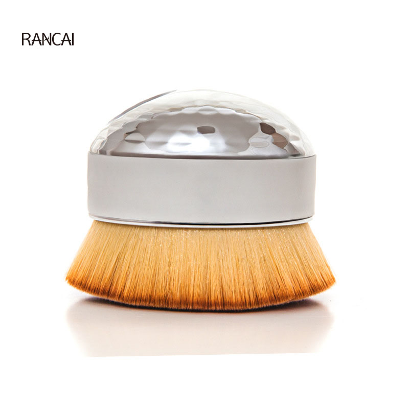 RANCAI 1Pcs Egg Makeup Brush Big Foundation Powder Blush Face Contour Brushes Cosmetics Make Up Beauty Tools Soft Hair New very big beauty powder brush blush foundation round make up tool large cosmetics aluminum brushes soft face makeup free shipping