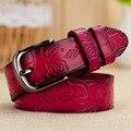 Ventas calientes de Las Mujeres Cinturones Elásticos de La Vendimia En Relieve Diseño cinto feminino Verano Hebilla Cintura ceinture Femme W25