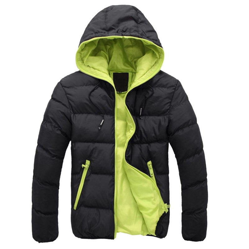 2019 Winter Warm Doudoune Homme Fashion Solid Down Jacket Men Casual Zipper Parka Pluma Hombre Hooded Plus Size Canada Jacket(China)