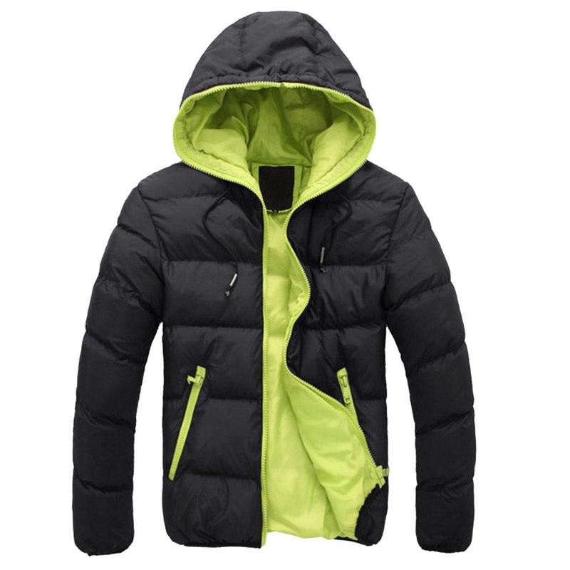 2019 Winter Warm Doudoune Homme Fashion Solid Down Jacket Men Casual Zipper   Parka   Pluma Hombre Hooded Plus Size Canada Jacket