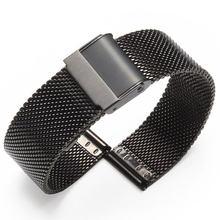 Bracelet milanais En Acier Inoxydable, 12 14 16 18 20mm 22mm 24mm, Argent, Bracelet de rechange pour Montre Intelli