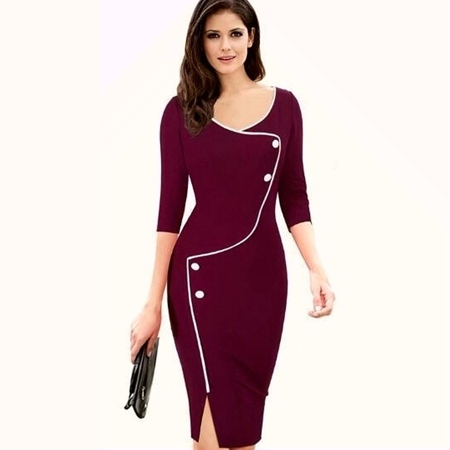 Online Get Cheap Wrap Dresses for Work -Aliexpress.com | Alibaba Group