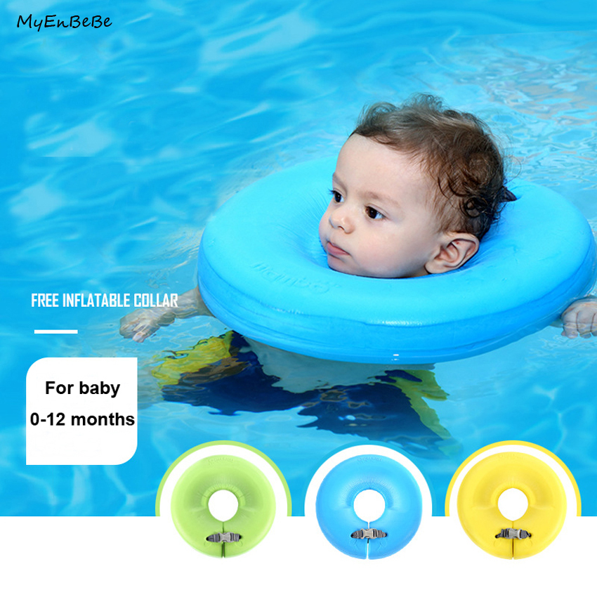 0 12M Baby Neck Float Ring Non Inflatable Baby Neck Swim Ring Circle Newborn Bath Toy Swim Trainer Swimming Pool Accessories