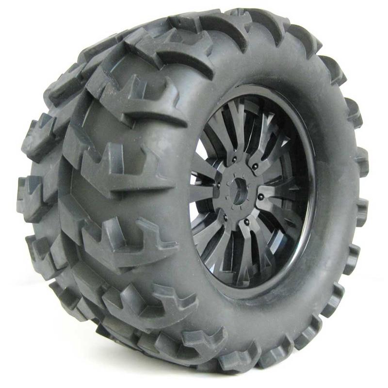 4 pcs 150mm 직경 휠 타이어 1/8 오프로드 락 크롤러 트럭 rc 자동차 부품에 대 한 17mm 16 진수 어댑터와 블랙 고무 등반 타이어-에서부품 & 액세서리부터 완구 & 취미 의  그룹 1