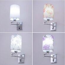 Сими ночники современный минималистский спальня настенный светильник светодиодный настенный светильник Творческий кнопки настенный светильник с выключателем