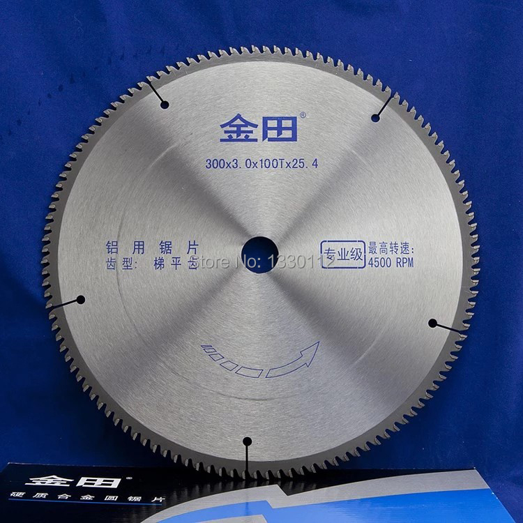 Free shipping 300*100T aluminum cutting tct circular saw blade with different diameter and teeth suitable for aluminum saws 12 72 teeth 305mm carbide saw blade with silencer holes for cutting melamine faced chipboard free shipping left right teeth